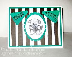 Touchdown Birthday Card by Crafty Math Chick | Touchdown Tails Stamp set by Newtons Nook Designs #newtonsnook