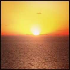 Sunset in the sea!