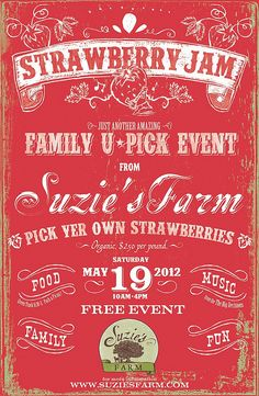 Strawberry Jam by Suzies Farm, via Flickr  This has a fun look!