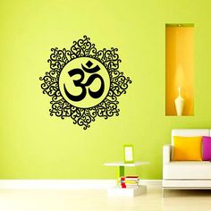 Wall Decals Vinyl Sticker Mandala Decal Ornament Indian Geometric Moroccan Pattern Yoga Namaste Om Symbol Home Decor Murals Bedroom Studio Dorm: Amazon.co.uk: Kitchen & Home