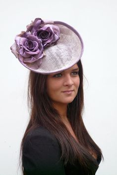 Couture lavender / purple fashinator hat  by MarcusArtandFashion, $149.00
