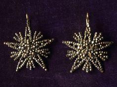 Victorian cut steel earrings