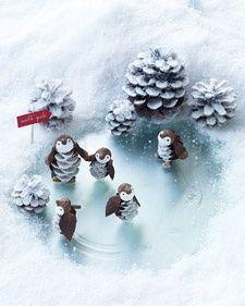 Festive Snow Scene for Penguins and more on MarthaStewart.com