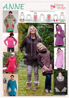 ANNE Pattern Sweatshirt, Shirt, Dress: Woman - tut zakken http://gretelies.blogspot.de/