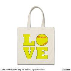 Cute Softball Love Bag for Softball Moms and Fans #softball #softballmom