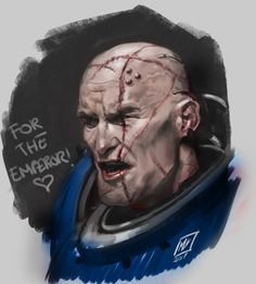 ArtStation - SpaceMarine portrait Sketch- (WarHammer40k Fan Art), Miguel Iglesias