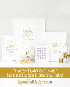 Birthday Guest Book Sign Printable, Please Sign My Book, Twinkle Twinkle Little Star Birthday Party Decorations Lavender Purple Gold Glitter - SprinkledDesigns.com
