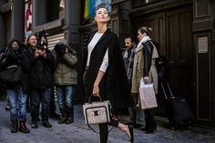 Street Style From Fashion Week, Day 2: Bright Coats, Crop Tops? - Crowd Control - Racked NY