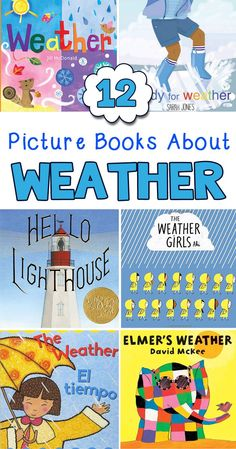 These picture books about weather are perfect for preschool and kindergarten. Includes a description of each title. #preschool #kindergarten #booksandgiggles #kidsbooks