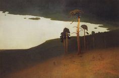 Crimea Artist: Arkhip Kuindzhi Completion Date: c.1905 Style: Impressionism Genre: landscape Tags: islands-and-bays, forests-and-trees, cliffs-and-rocks, Crimea