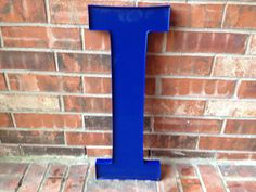 Large Reclaimed Plastic Sign Capital Letter I Plastic Signs, Office Decor, Garden Tools, Industrial, Blue And White, Lettering, Etsy, Home Decor, Decoration Home