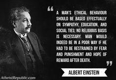 Albert Einstein on religion and ethics.