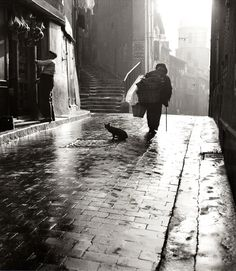 Alley in Marseilles in the early morning, Herbert Maeder 1952