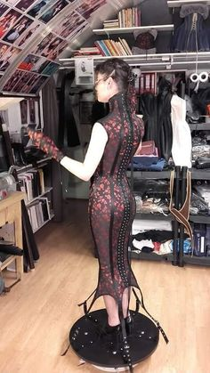 """fortheloveofcorsets: "" Amazing corset dress for a living mannequin designed and made by Jeroen Van Der Klis of Bizarre Design. Dress Skirt, Bodycon Dress, Corset Dresses, Best Corset, Lace Tights, Formal Dresses, My Style, Sexy, How To Wear"