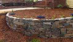 Dry Stack Flagstone Retaining Wall | Dry-stack retaining wall