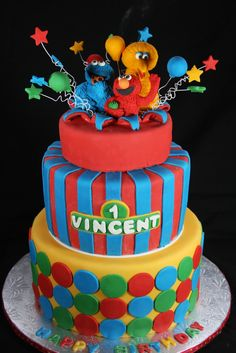 amazing sesame street cakes | Cakes n Goodies: Sesame Street Themed First Birthday Cake