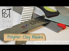 Polymer Clay Blades - A Must Have Polymer Clay Tool (+playlist) Polymer Clay Tools, Polymer Clay Canes, Paper Mache Clay, Clay Art, Jewelry Making Tutorials, Clay Tutorials, Video Tutorials, How To Make Clay, Crafts To Make