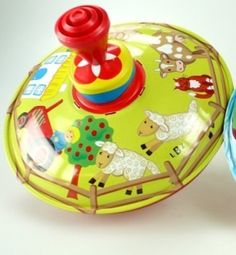 Vintage Style Mini Spinning Top - Farm - A Whole Lot of Love