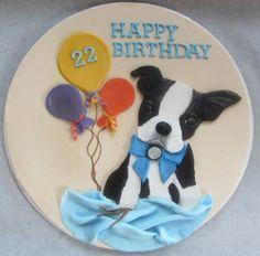 Boston Terrier Cake Topper - by CakeCreationsbyME @ CakesDecor.com - cake decorating website