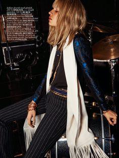 fashion editorials, shows, campaigns & more!: sabrina ioffreda by jem mitchell for vogue turkey august 2014 Kms California, Glam Rock, Rock Chic, High Fashion, Womens Fashion, Office Attire, Bohemian Style, Bohemian Fashion, Girly Girl