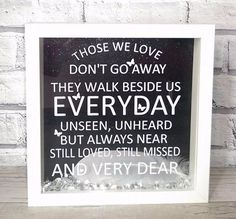Memorial quote keepsake 3d box frame by Glammygifts on Etsy