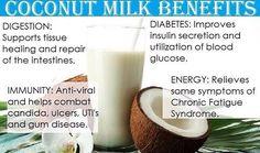 Coconut milk benefits.
