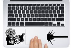 GOKU DECAL Kamehameha Dragon Ball Z MacBook Keyboard by adamsvinyl