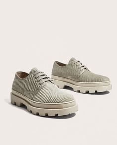LIMITED EDITION GREY CORDUROY SHOES-NEW IN-MAN | ZARA Spain