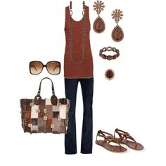 Casual Rust, created by avis-board.polyvore.com