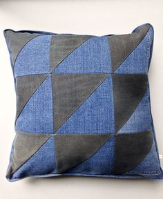 Recycled denim pillow cover...