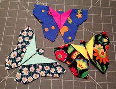 Trampantojos de costura: Origami Patchwork: Mariposas