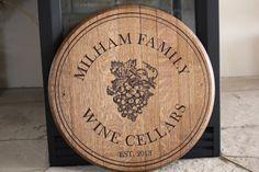 Custom Engraved Wine Barrel Sign or Lazy by RockCreekFurnitureCo, $200.00