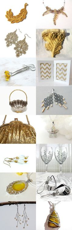 Bold Silver and Gold! by Allison and Sheryl on Etsy--Pinned+with+TreasuryPin.com