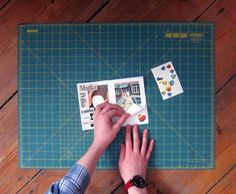 How To: Postcard Size Zine form one sheet of A3 Paper