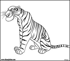 shere khan jungle book color page disney coloring pages color plate coloring sheet - Disney Jungle Book Coloring Pages
