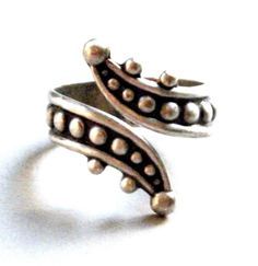 VINTAGE WRAP-AROUND STERLING RING, TAXCO  #ES