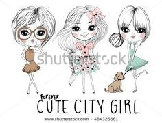 stock-vector-cute-girls-illustration-464326661.jpg (450×344)