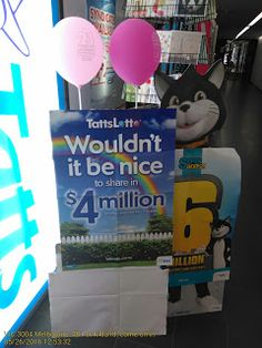 How to sell lottery tickets with a poster   Lottery Melbourne Poster Retail