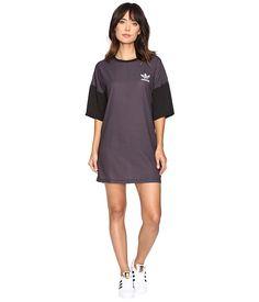 adidas Originals AOP Tee Dress Shadow Black - 6pm.com