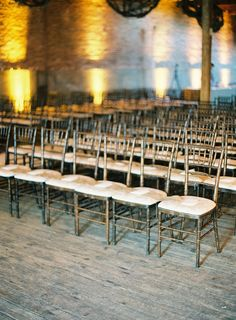 Industrial wedding ideas.
