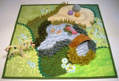 I know three little girls who will have a fairy play mat this christmas. Fairy Tea Garden Playmat Quilt sewing pattern by thesilverpenny
