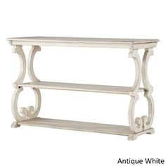 Lorraine Wood Scroll TV Stand Sofa Table by iNSPIRE Q Classic