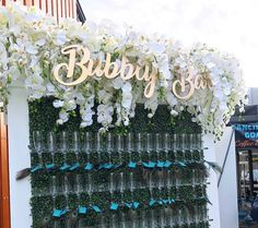 Champagne wall at a wedding #weddingdecor #eventsofalifetimeatlanta