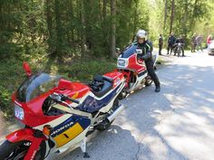 Me and my Honda NS 400R. Kungsrallyt 2015,  for 30 year old bikes (veteran) on the way to Sätila