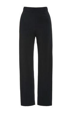 These **Brandon Maxwell** pants feature a slim leg and a high rise waist.