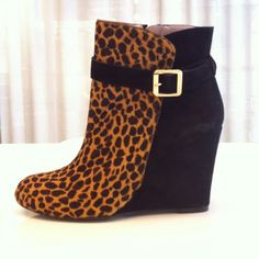 Vince Camuto Cheetah Print Wedge with Buckle