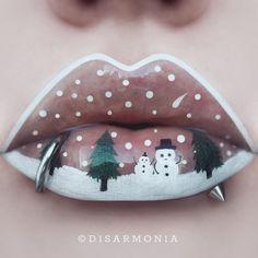 Christmas Lip Art