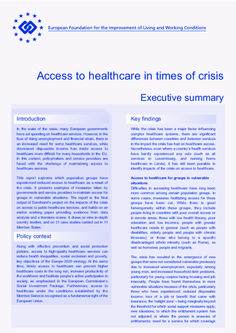 Access to healthcare in times of crisis - Executive summary | ef