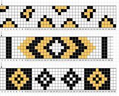 off loom beading stitches Loom Bracelet Patterns, Bead Loom Bracelets, Beaded Jewelry Patterns, Beading Patterns, Bead Loom Designs, Fair Isle Chart, Bead Crochet Patterns, Tapestry Crochet, Bead Jewellery