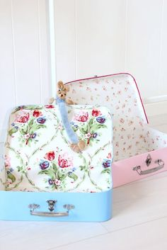 Darling suitcases for visiting the grandparents.